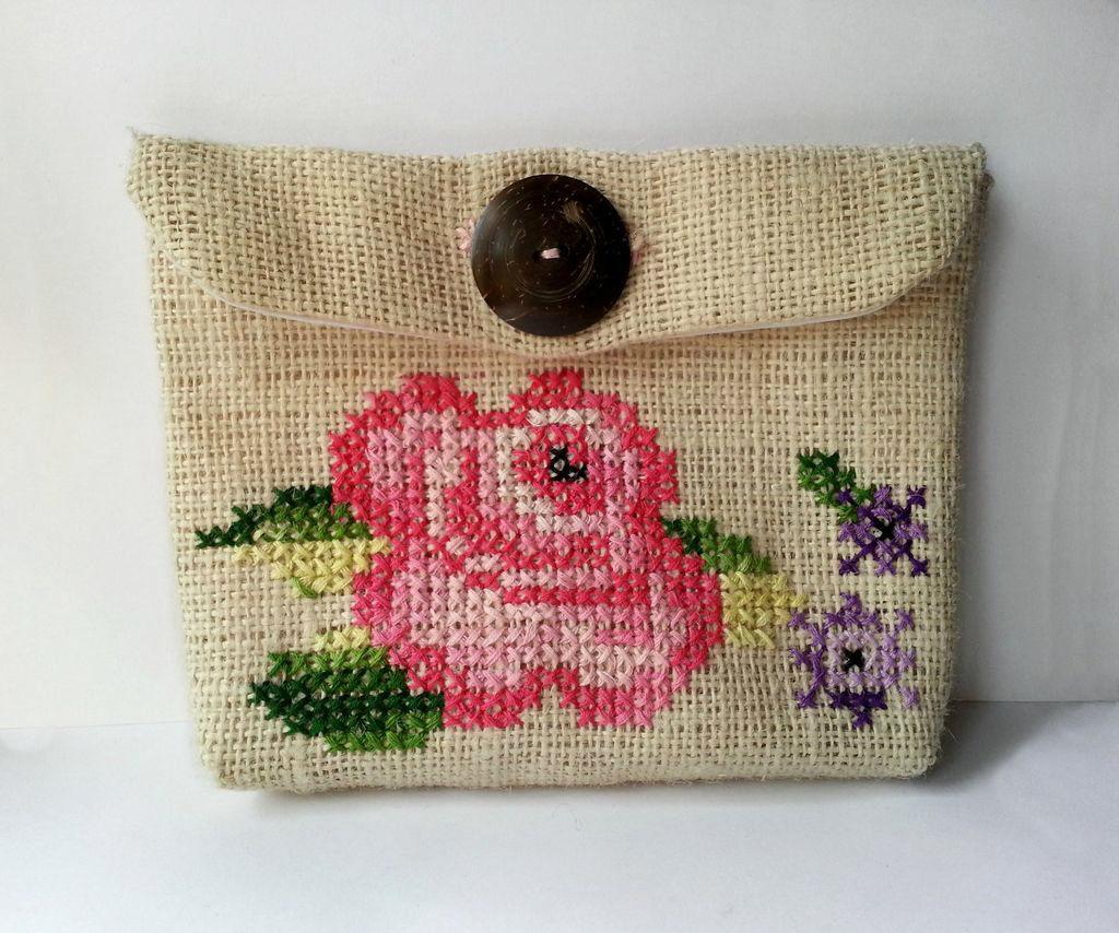 Vintage Inspired Cross-Stitch Purse