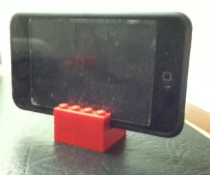 Incredibly Simple Lego Ipod Stand