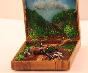 在一个盒子里的微型风景