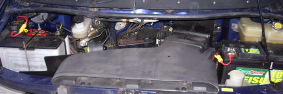 Fitting a leisure battery to a Mazda Bongo