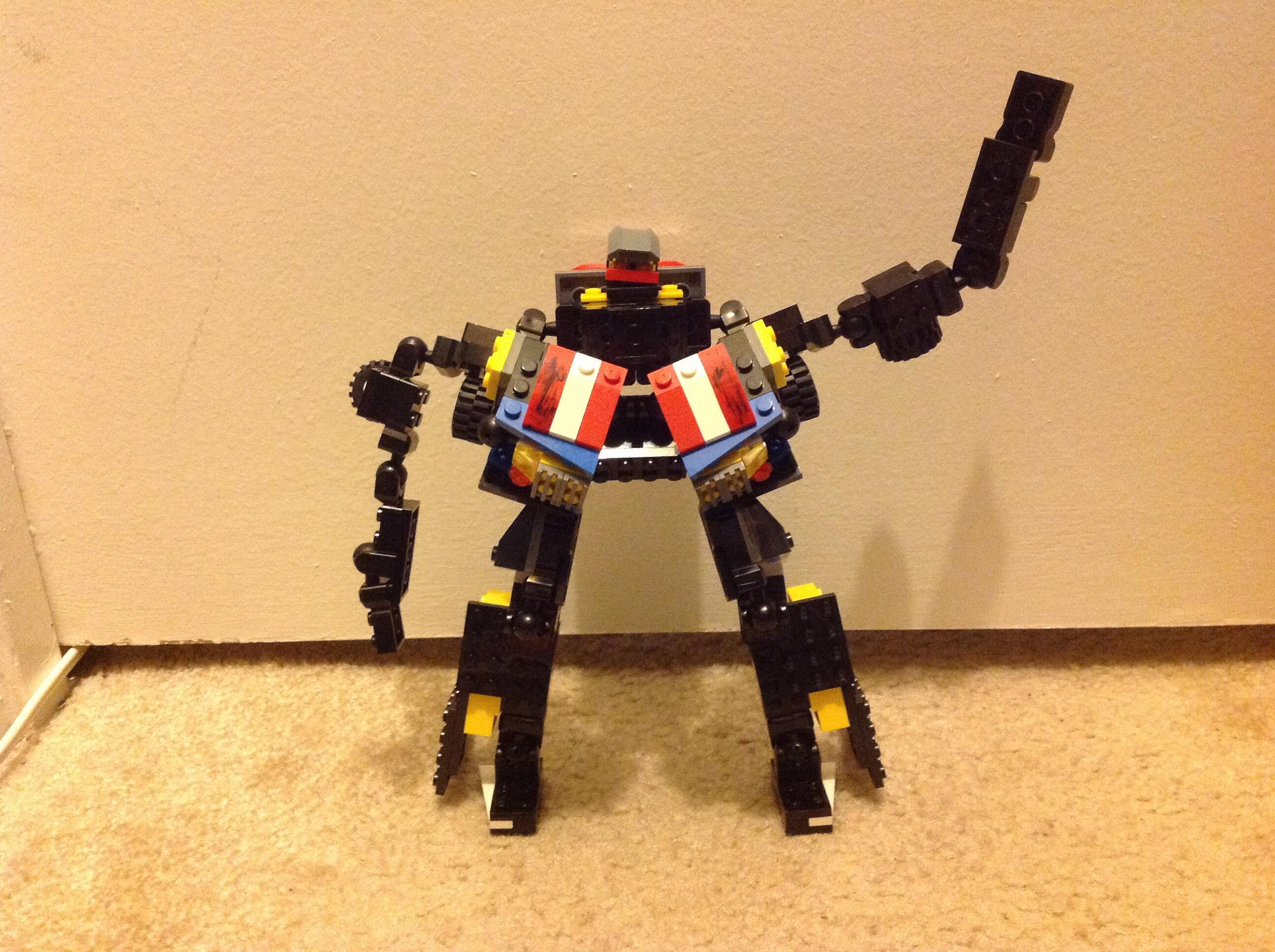 Lego Transformer. Autobot? Decepticon? Movie version of Bulkhead? You decide!