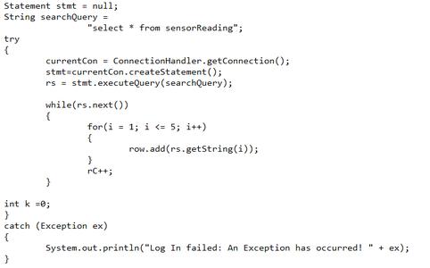 Sensor Reading Logic Layer