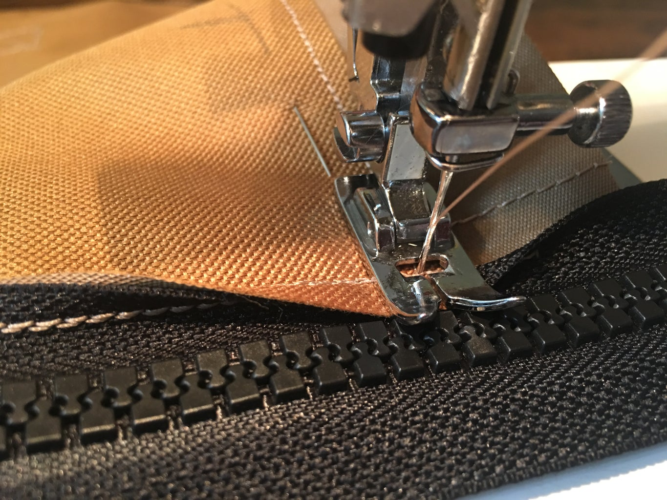 Sewing the Top to the Bag: