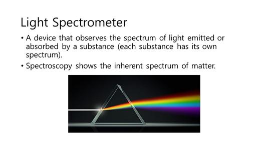 Spectroscopy ( Writer :  Hyun-Seo Kim )