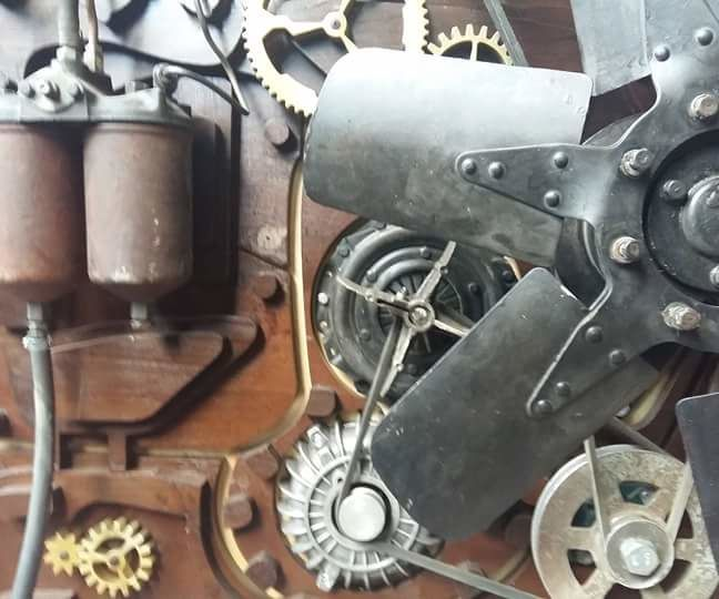Steampunk Time Traveler street cart-time machine
