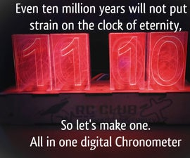 All in One Digital Chronometer ( Clock, Timer, Alarm , Temperature)