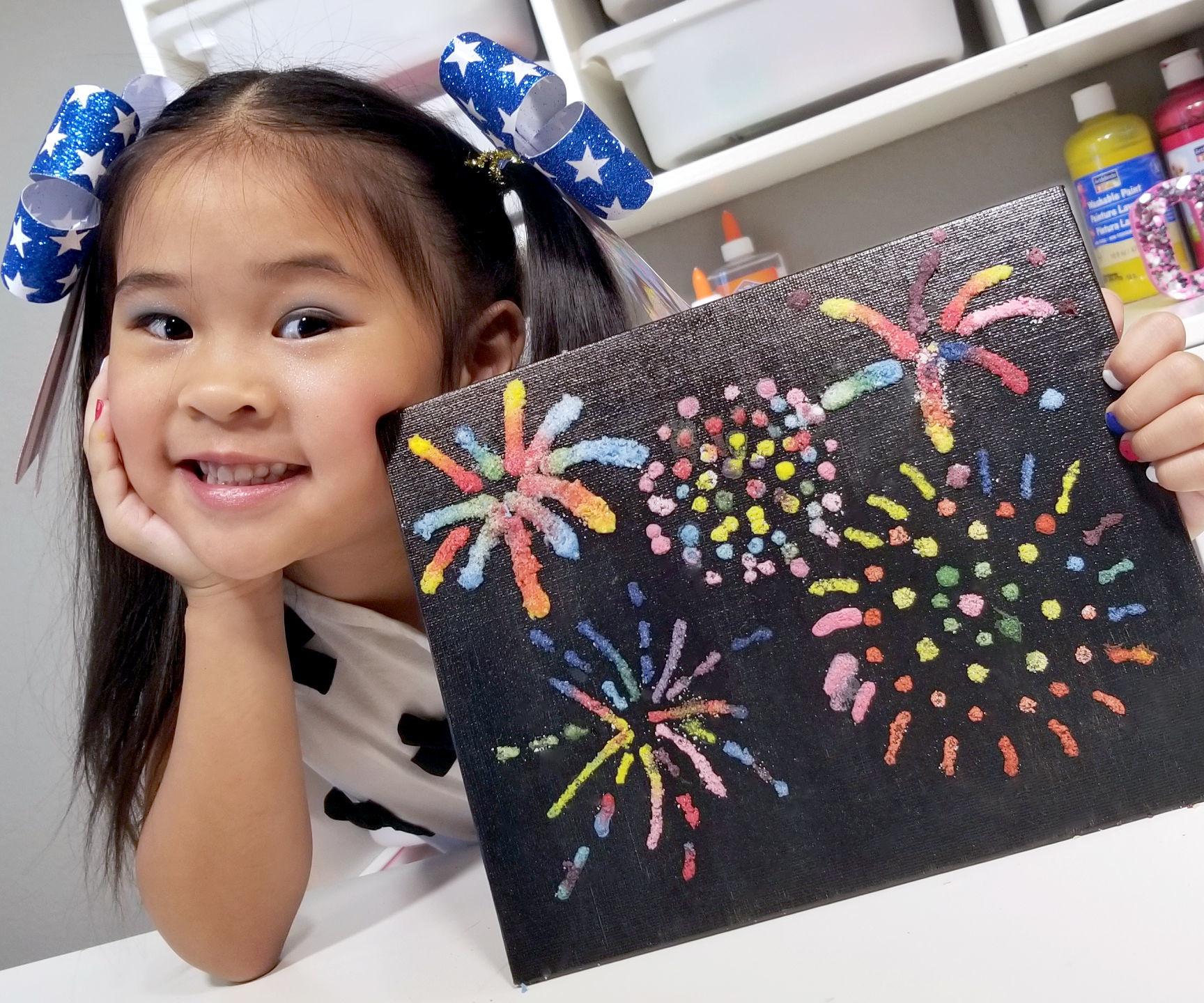 DIY Fireworks Salt Painting