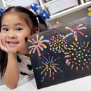 DIY Fireworks Salt Painting