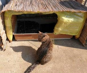 DIY Outdoor Cat Shelter Made From Plastic Bottles