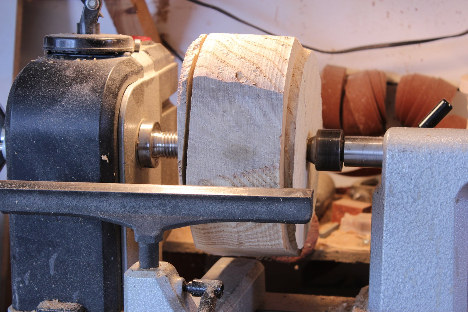 Grab Your Wood and Mount It to the Lathe.