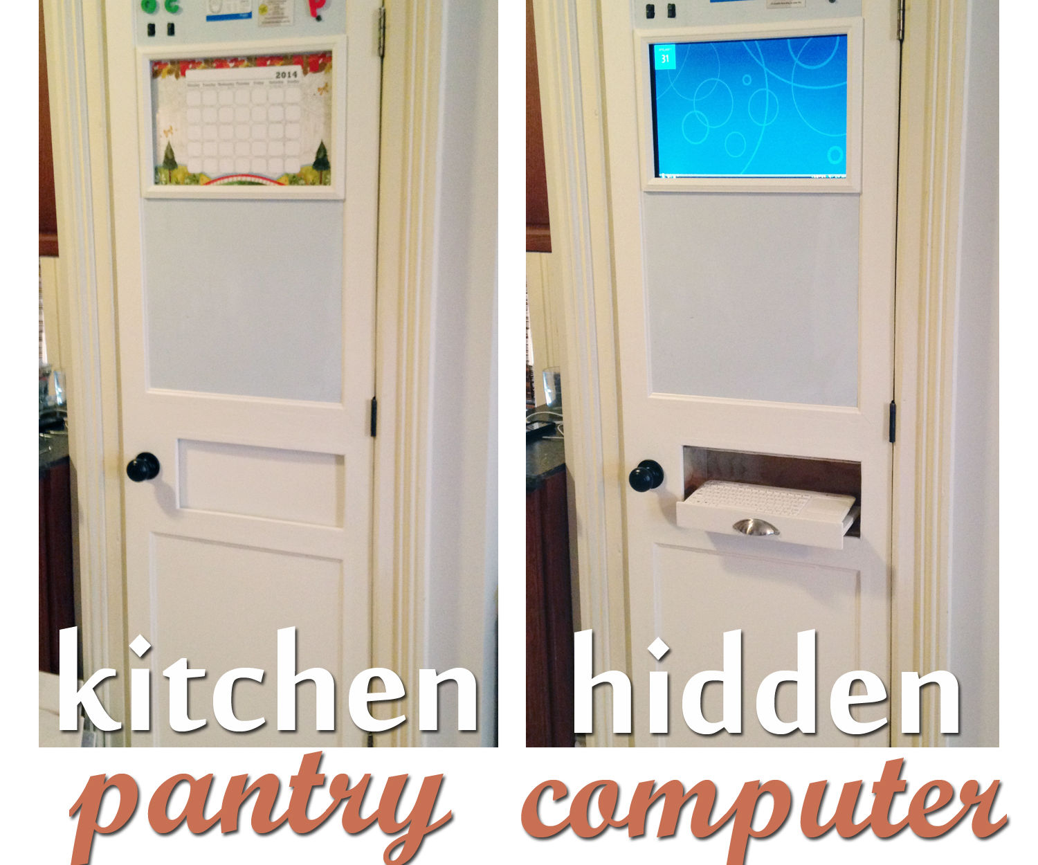 Kitchen Pantry Computer (Hidden)
