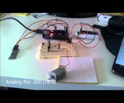 Arduino Bluetooth Motor Control Without Motor Driver Chip