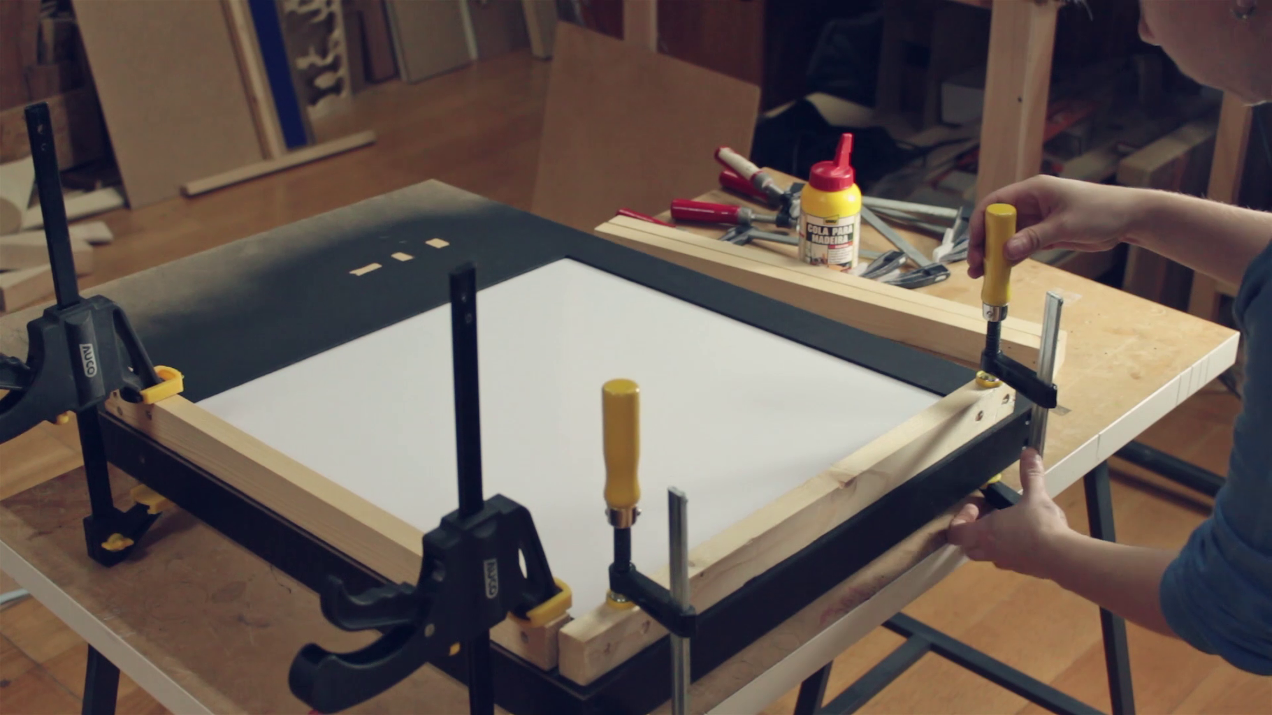 Enclose the Acrylic Sheet and Prepare the Frame to Receive a Switch