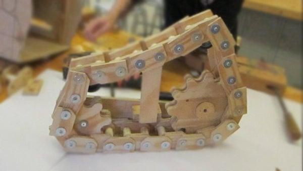 Wooden Tank Tracks