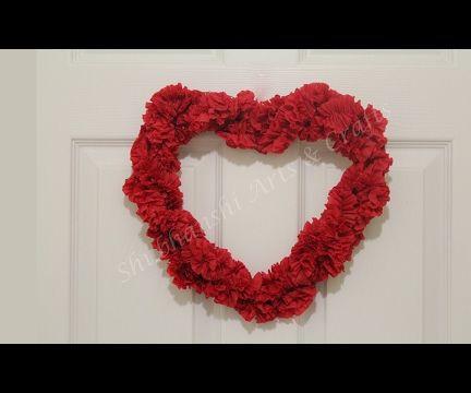 DIY Heart WREATH For Valentine 2017