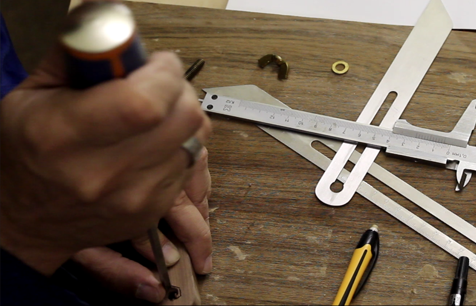 Prepare the Body: Enlarge the Hole for the Bolt Head