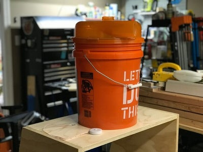 Cut a Hole in the Top Shelf for the Bucket