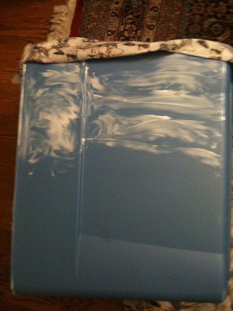 Glue Fabric to the Box