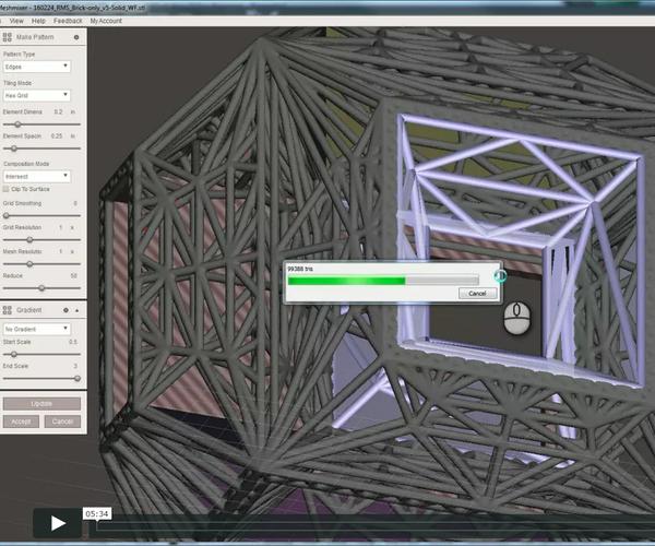 RMS - Using Autodesk MeshMixer to Create a Penetrated Modular Brick