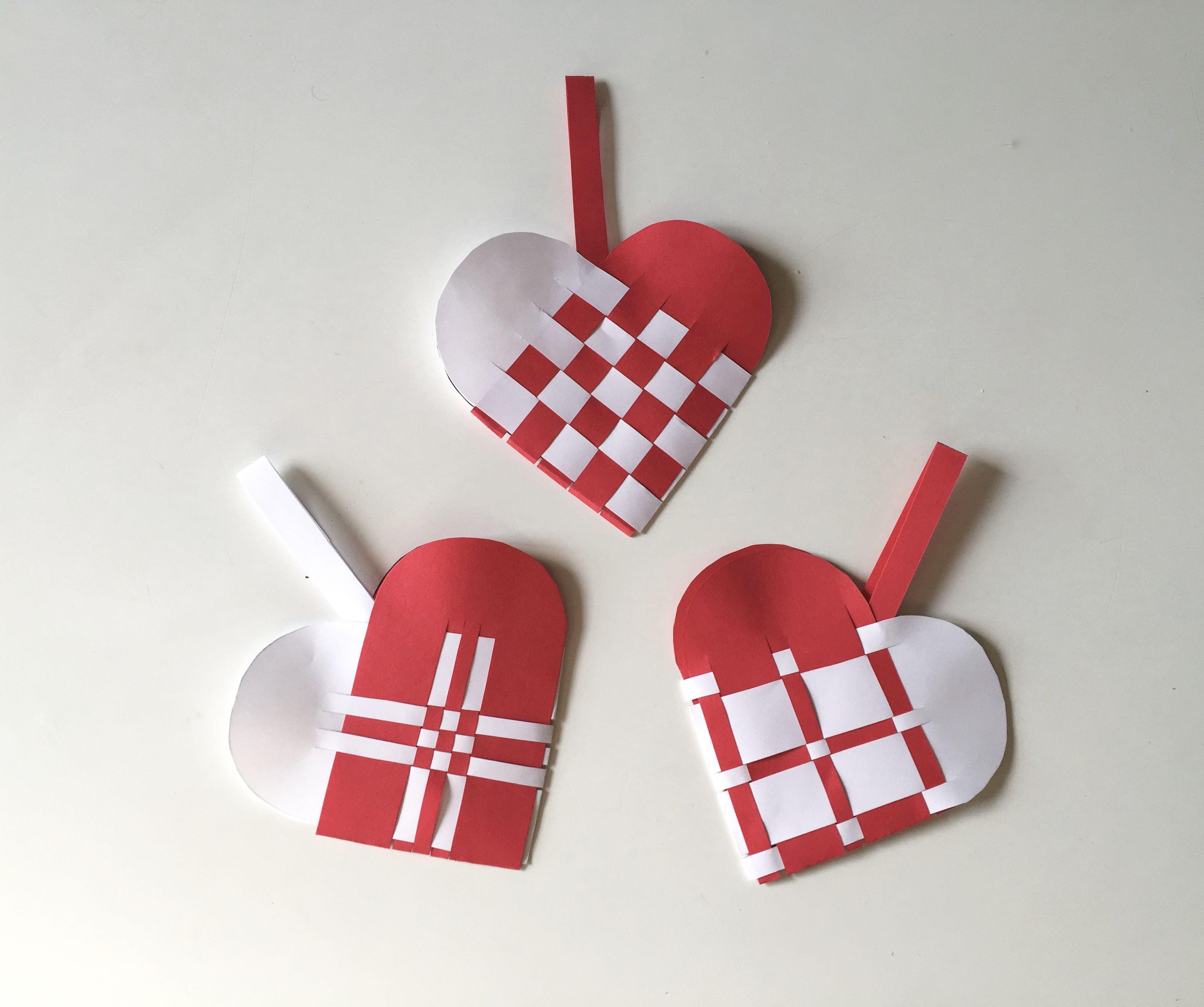 Scandinavian Woven Heart Basket