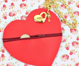 No-Sew Heart Coin Purse