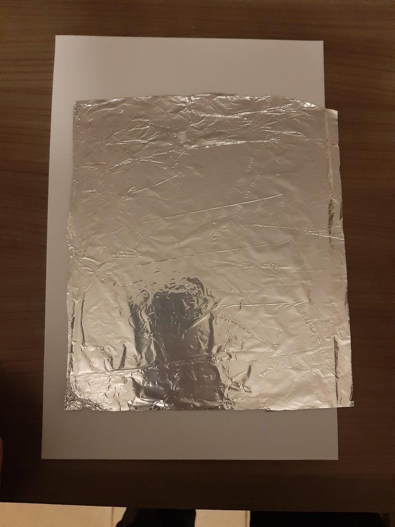 Crear El Sensor- Cubrir El Foamy Con Papel Aluminio