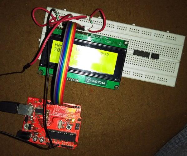 Interfacing 20x4 LCD With Arduino