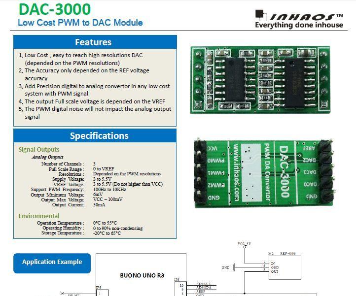 DAC-3000, Low Cost PWM to DAC Module