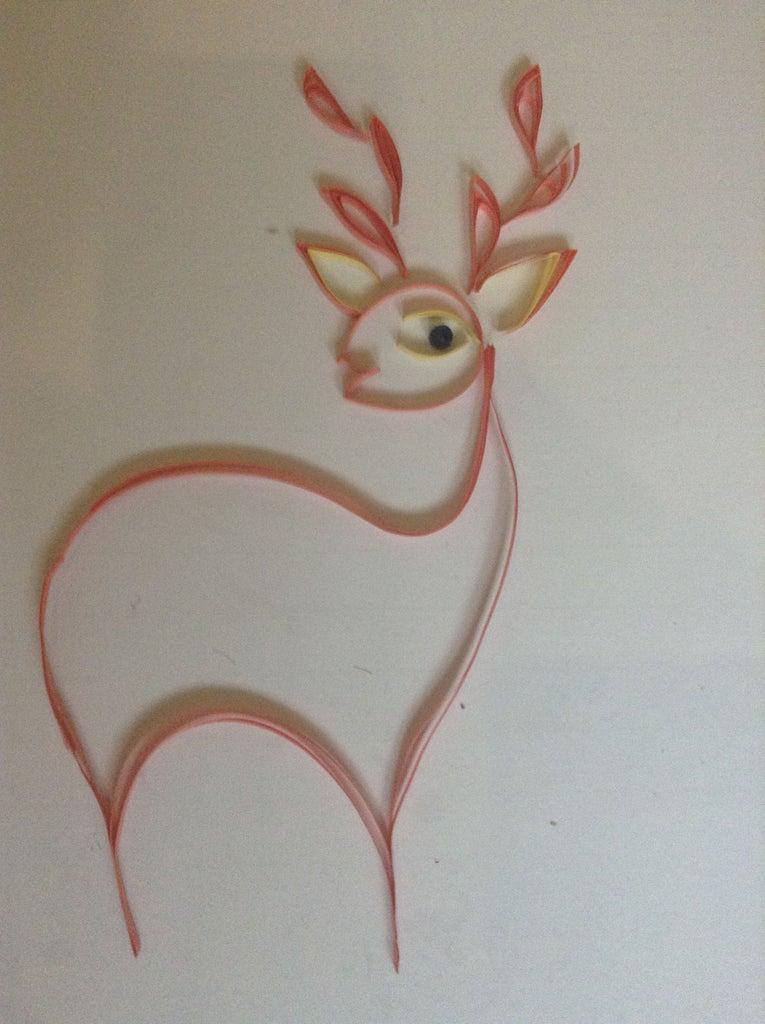 Valentine's Day Quilled Deer