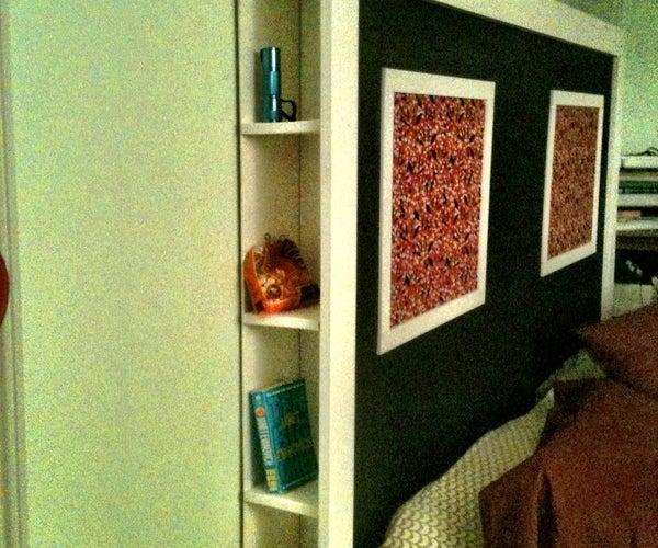 Head Board With Hidden Cubbies