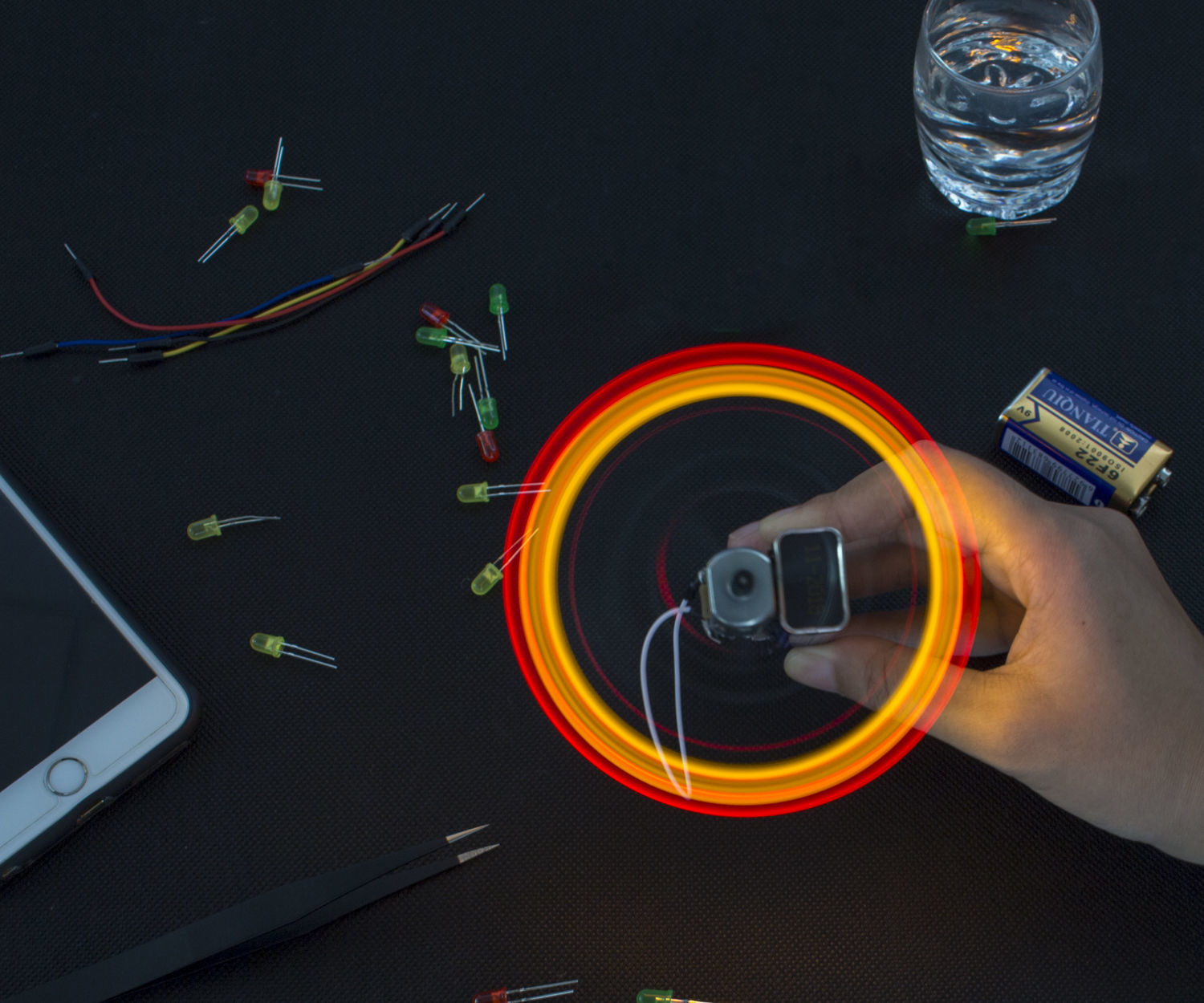 How to Make a Spinning LED Light in Minutes – No Programming