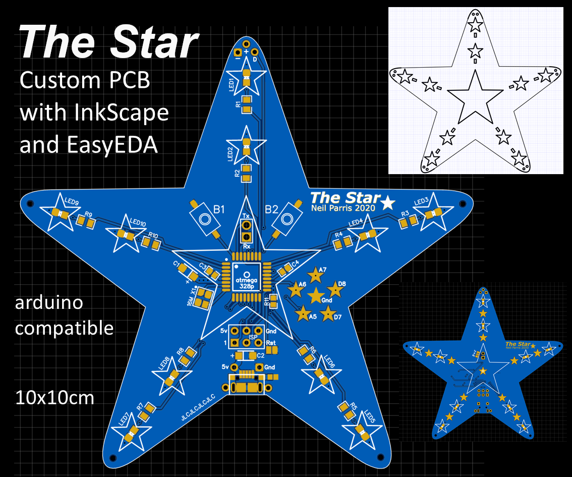Learn How To Design A Custom Shaped Pcb With Easyeda Online Tools 12 Steps With Pictures Instructables