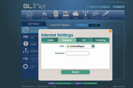 Enable the GL-INET to Access the Internet