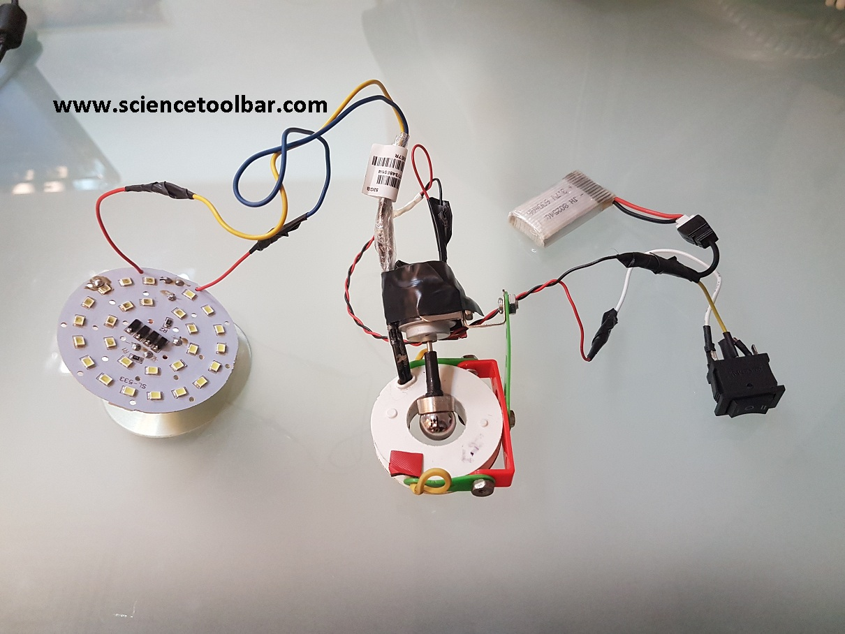 How to Make a Simple Electric Ac Generator , Using a Single Neodymium Sphere, Coil , Dc Motor and a Battery