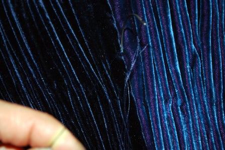 Sewing Peacock Pleats