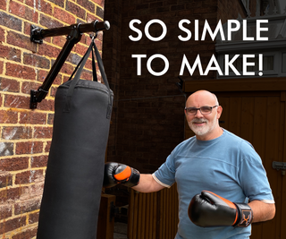 Punch Bag Wall Bracket Made From Scaffolding - Keep Fit at Home