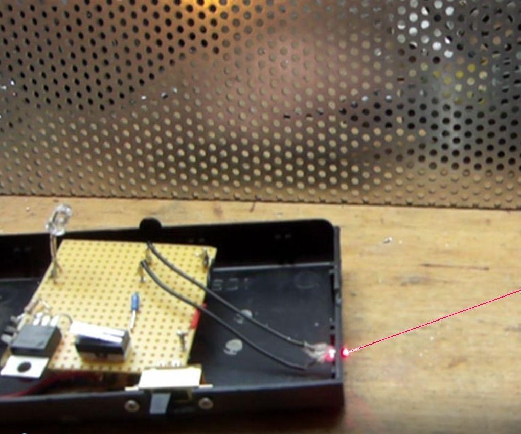 Super Easy Laser Trip Wire / Alarm / coilgun switching