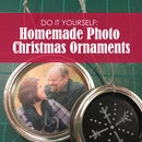 Homemade Photo Christmas Ornaments