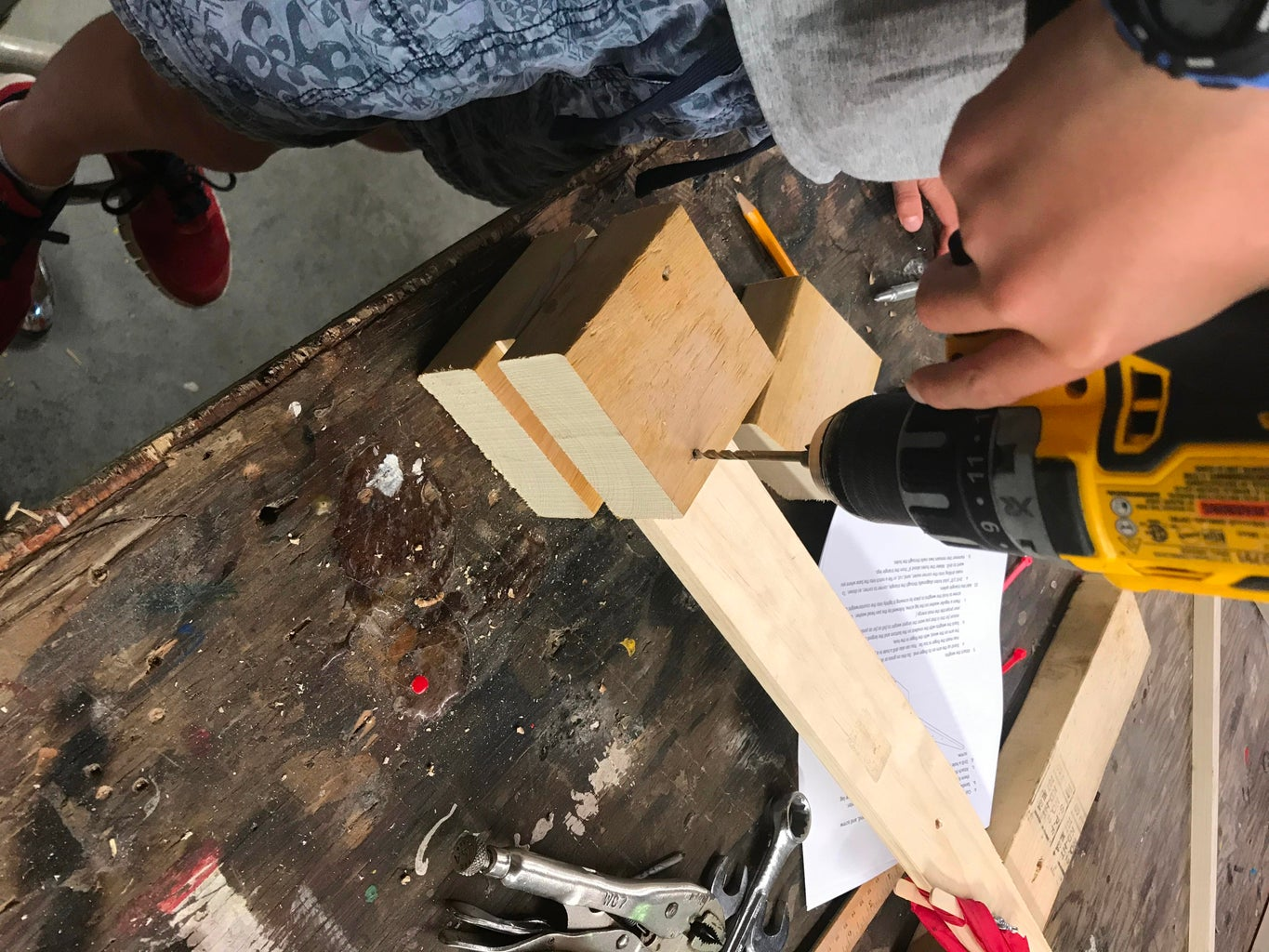 Build a Base for the Counterweights