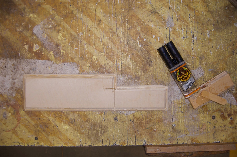 Glue in Plexiglas Strips