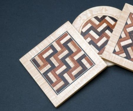 How to Make Parquetry Wood Brooches