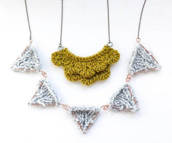 DIY针织项链|2 x漂亮的图案,金属细节