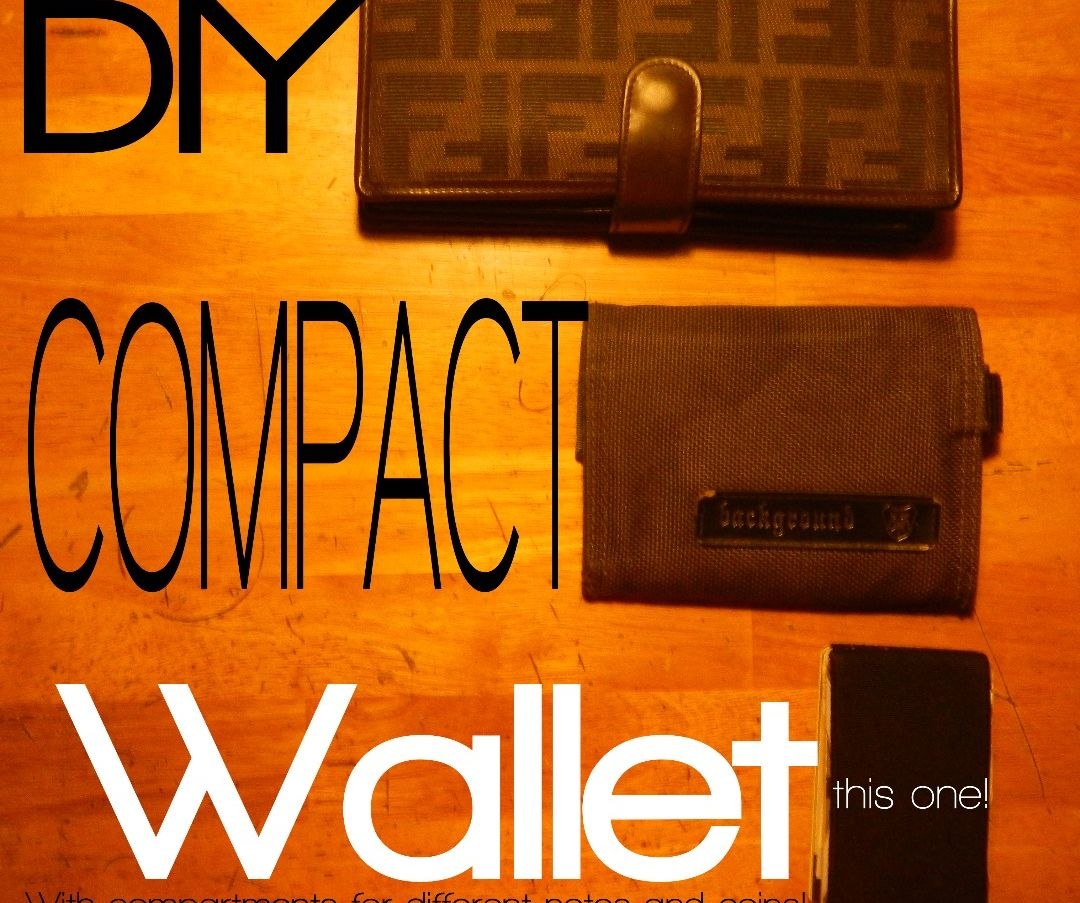 DIY $2 Compact wallet with compartments