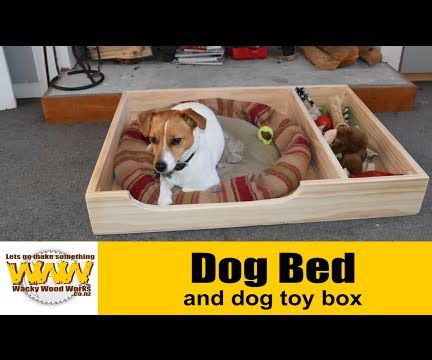 Dog bed with toy box