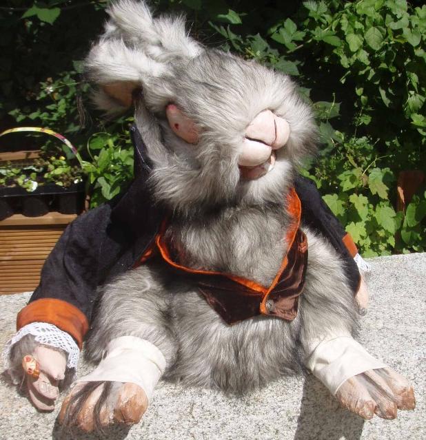 Evil White Rabbit Puppet/toy