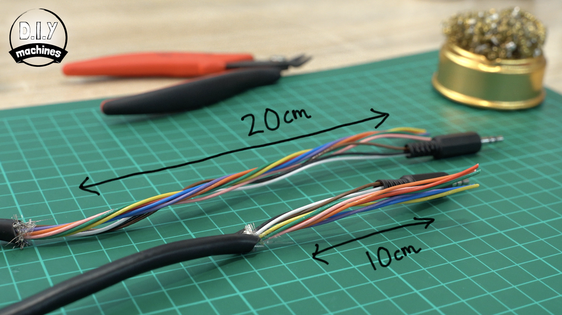 Adding the Audio Jacks to Our Cable