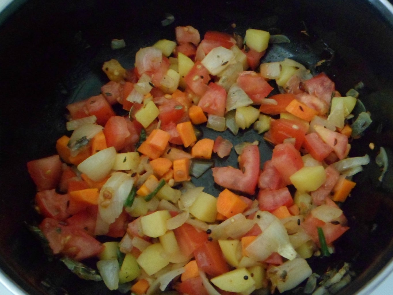 Add Onions and Veggies