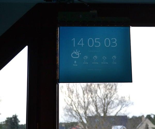 Semi-Transparent Window Display