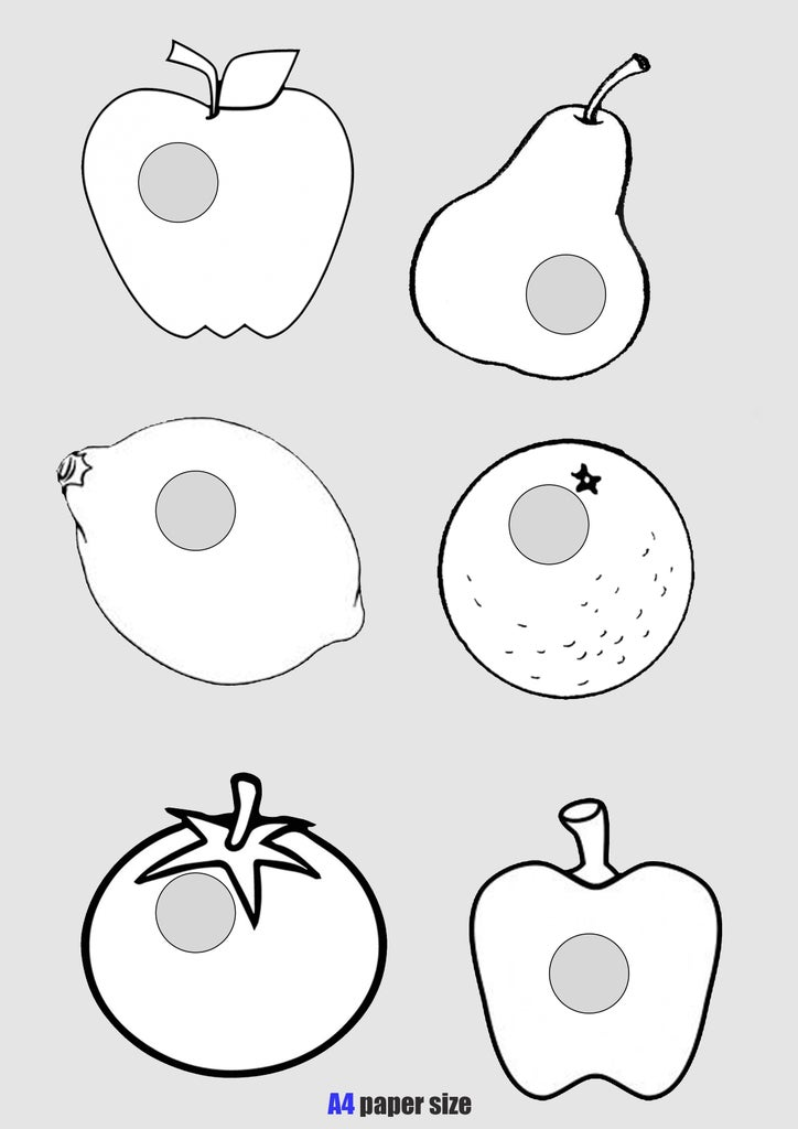 Print the Templates on A4 Paper and Cut Out the Shapes