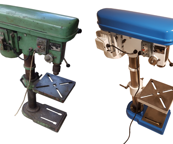 Restoring and Assembling an Old Drill Press